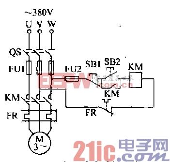 三相异步电动机连续控制电路图片