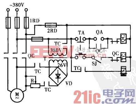 8.电动机当相桥式整流能耗制动电路.gif