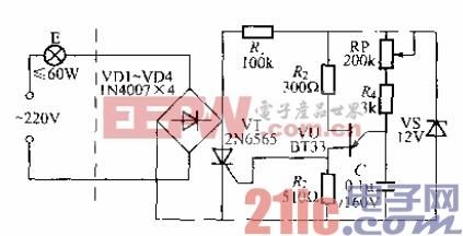 26.单结晶体管触发的单向晶闸管调光灯电路(1).gif