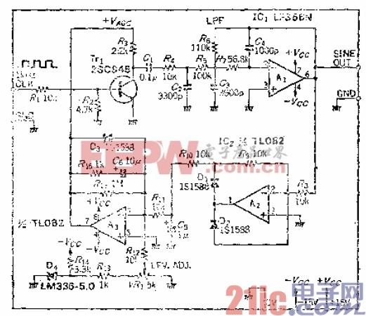 13.频率和振幅稳定的正弦波输出电路.gif