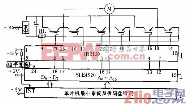 24.IR2130与单片机及SLE4520相结合用于三相变频系统图.gif