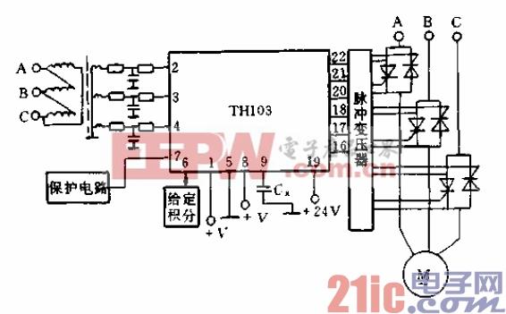 TH103在三相交流电动机调压调速系统中的应用图片