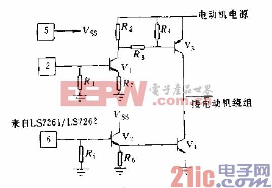 5.用PNP和NPN晶体管的电动机驱动电路.gif