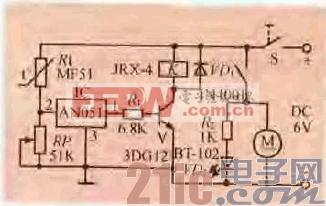 41.一款用电压检测器件组成的温控开关电路.gif