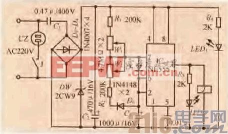 51.一款外置式冰箱温控保护器电路.gif