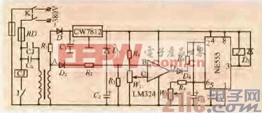 一款交流电焊机空载节能电路图片