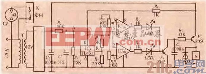 21.一款电冰箱过欠电压保护电路.gif