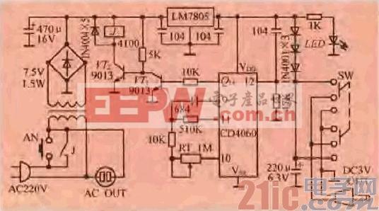 14.一款定时关断的交流电源适配器电路.gif