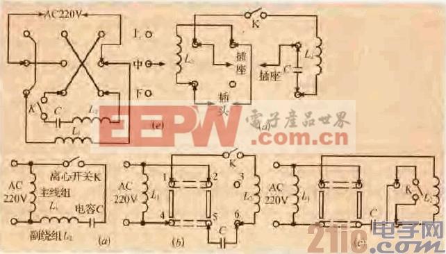 38.一款单向异步电机切换连接电路.gif