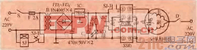 一款单相电机正反转控制电路(一)-汽车电子电路图