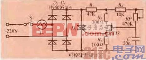 43.一款电风扇电机可控硅无级调速电路.gif