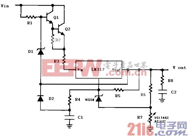高精密电压调节器电路图