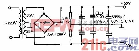带输出变压器的场效应管功率放大器02