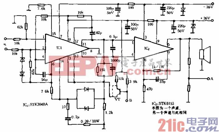 35.质优价廉的100Wx2功放电路.gif