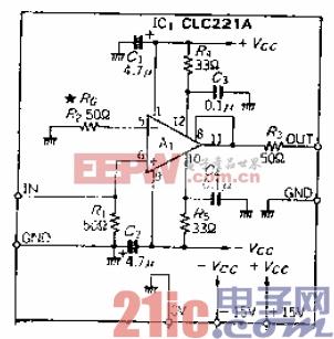 宽带为100MHz的超宽带DC放大器