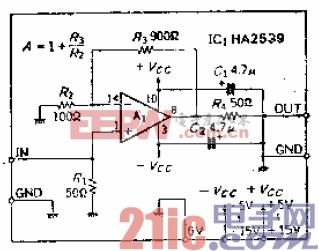 宽带为50MHz的宽带放大器