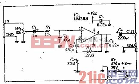 使用单片功率IC的6至W音频功放大器