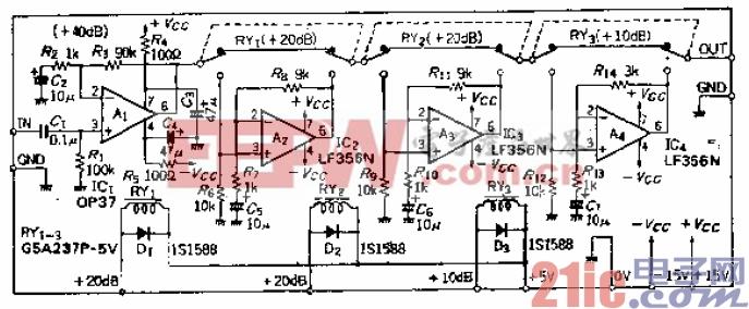 12.可用10dB为单位选定10至90dB增益的可编程放大器.gif