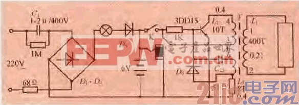 一款简易充电应急灯电路-汽车电子电路图-电子产品世界