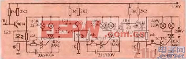 51.一款受彩电画面控制的彩灯电路.gif