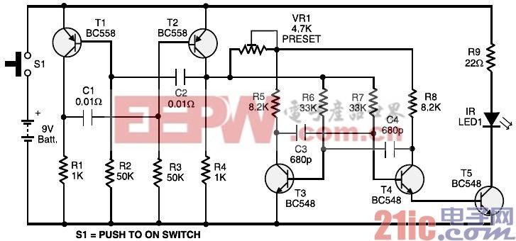 玩具汽车遥控器控制电路