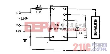 华凌DXW-65A双功能电子消毒柜电路图.gif