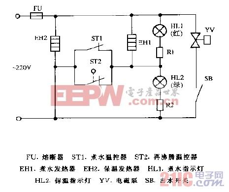 万宝DQP-30AR电动气泵电热水瓶电路图
