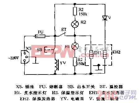 万宝DQP-22A电热水瓶电路图.gif