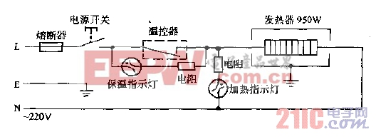 臻琦牌ZQ-95C矿化,磁化,净水医疗保健快速自动电热水瓶电路图