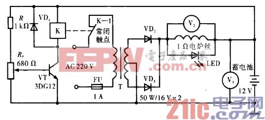18.充满电自停的简易充电器电路.gif