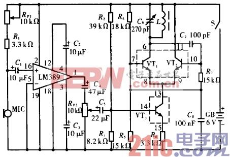 4.高保真调幅无线话筒电路.gif