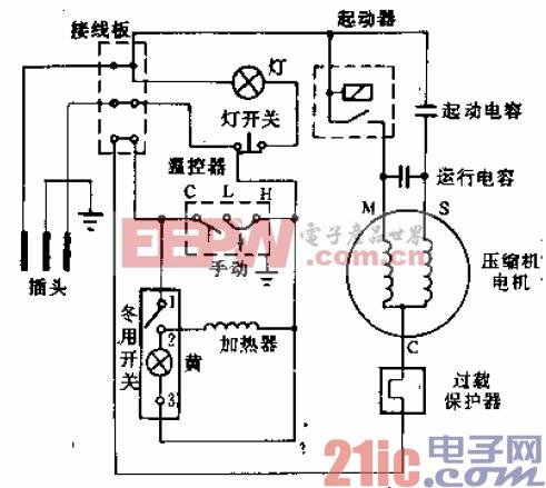 远东牌BCD-220型电冰箱电路.gif