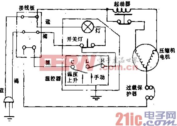 远东牌BCD-185型电冰箱电路.gif