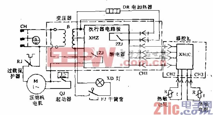 友谊牌BCD-200型电冰箱电路.gif