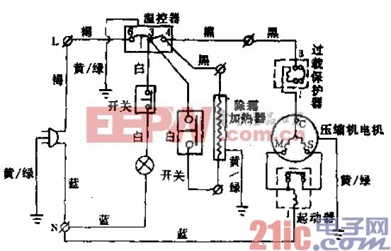 扬子牌BCD-212、BCD-230型电冰箱电路.gif