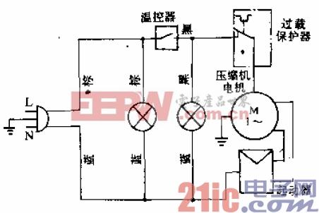 新飞牌BD-100、BD-120、BD-140、BD-180型电冰箱电路.gif