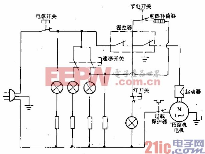 新飞牌BCD-245型电冰箱电路.gif