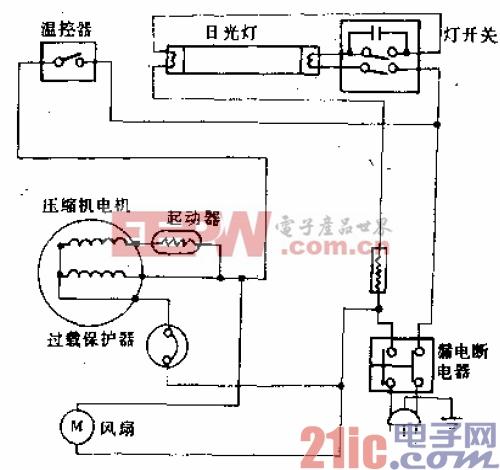 万宝牌LCY-238型电冰箱电路.gif