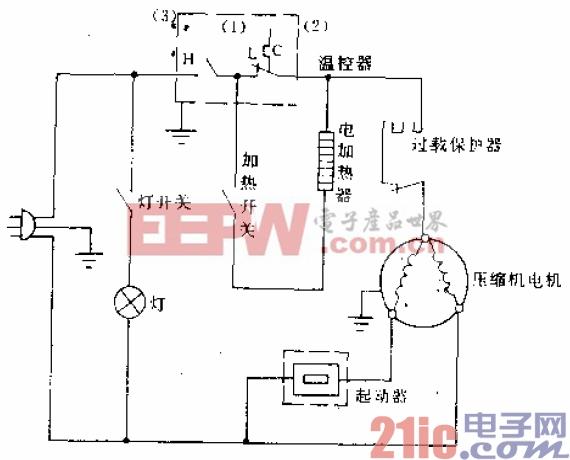 万宝牌BCD-235型电冰箱电路.gif