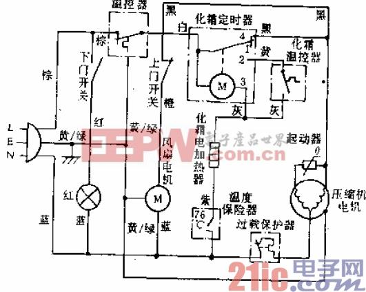万宝牌BCD-183W型电冰箱电路.gif
