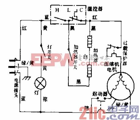 万宝牌BCD-158A型电冰箱电路.gif