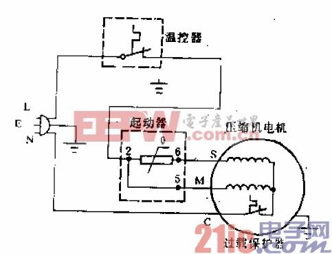 万宝牌BC-46型电冰箱电路.gif