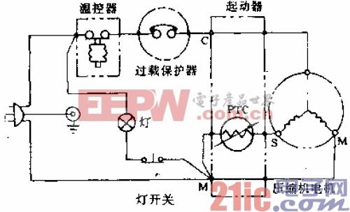 香雪海牌BC-140、BC-160A型电冰箱电路.gif