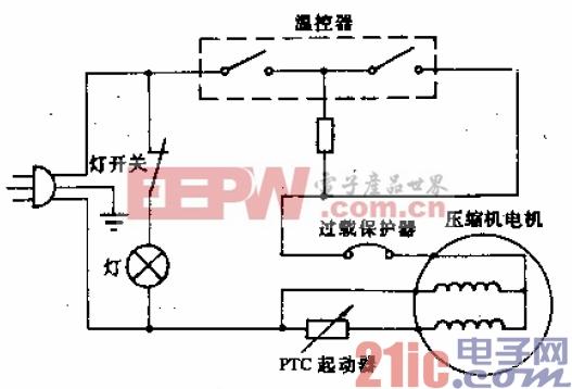 天泉牌BCD-170型电冰箱电路.gif