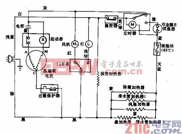 松下牌NR-172TA-X型电冰箱电路.gif