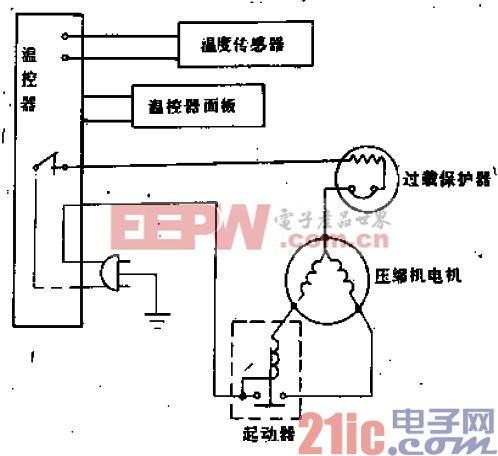 水仙花牌BD-110BD-115型电冰箱电路