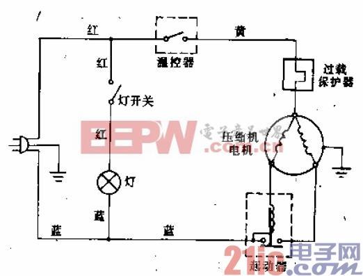 水仙花牌BC-110型电冰箱电路