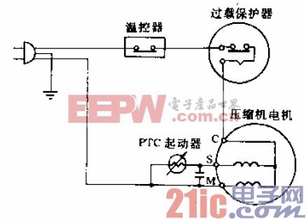 双燕牌BD-80、BD-102、BD-105型电冰箱电路.gif