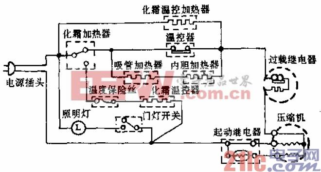 双燕牌BCD-170型电冰箱电路.gif