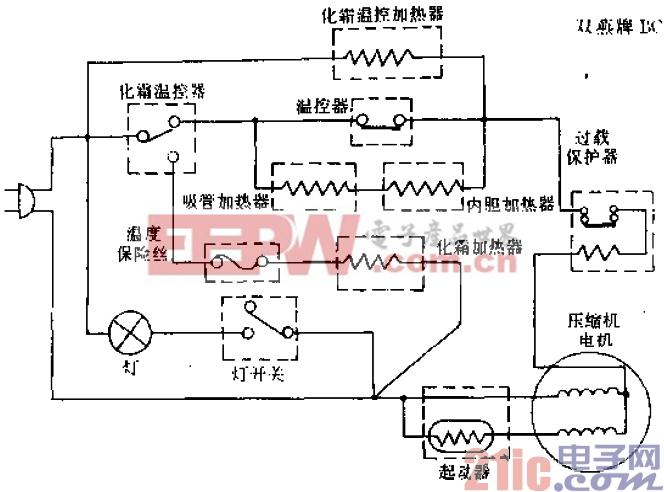 双燕牌BCD-145型电冰箱电路.gif
